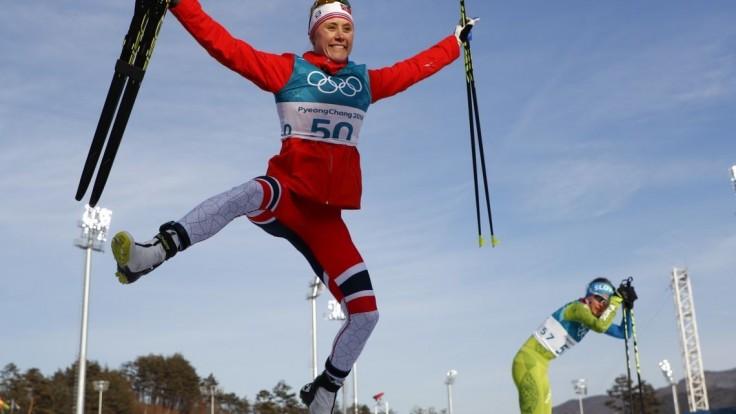 Z behu na lyžiach si odnáša zlato Nórka, Procházková na 58. mieste