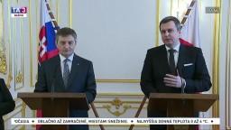 Brífing A. Danka a M. Kuchcińského v rámci návštevy poľskej delegácie