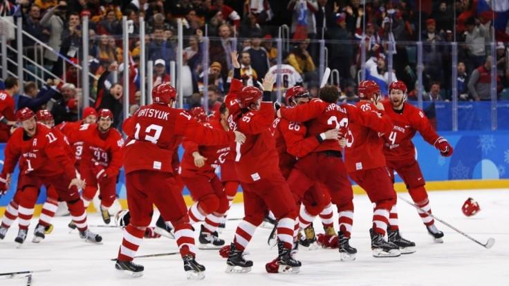 Hokejisti Ruska získali zlaté olympijské medaily, zdolali reprezentáciu Nemecka