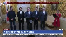 Vyhlásenie predsedu vlády k prípadu vraždy novinára