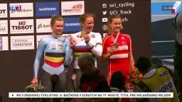 Na majstrovstvách v dráhovej cyklistike rozdali prvé medaily
