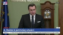 Vyhlásenie predsedu parlamentu k aktuálnej politickej situácii