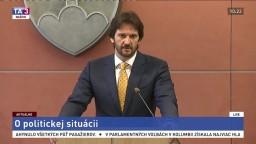 TB R. Kaliňáka o aktuálnej politickej situácii
