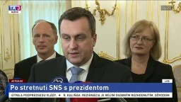 Brífing A. Danka po stretnutí predstaviteľov SNS s prezidentom A. Kiskom