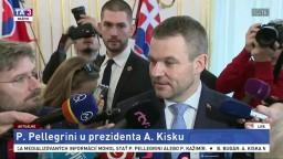 Brífing P. Pellegriniho o stretnutí s prezidentom A. Kiskom