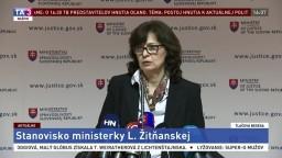 TB ministerky spravodlivosti L. Žitňanskej o aktuálnej politickej situácii