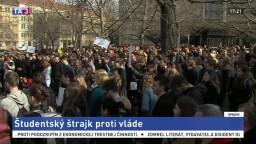 Tisícky českých študentov štrajkovali proti Babišovi