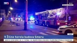 Sídlo Smeru-SD zachvátil požiar, o náhodu zrejme nešlo