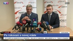 Brífing P. Pellegriniho a B. Bugára po rokovaní o novom vládnom kabinete
