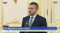 TB P. Pellegriniho po spoločnom stretnutí s prezidentom A. Kiskom
