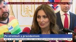 Brífing A. Kalavskej po stretnutí s prezidentom A. Kiskom