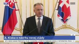 Vyhlásenie prezidenta A. Kisku o návrhu novej vlády