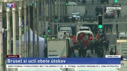 Brusel si pripomenul obete útokov, zorganizoval spomienkové akcie
