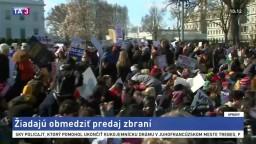 Študenti zorganizovali protest, žiadajú obmedzenie predaja zbraní
