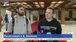 Vyhlásenie organizátorov protestu po stretnutí s Andrejom Dankom