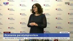 TB M. Lubyovej a J. Riapoša o ocenení paralympionikov
