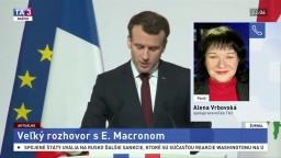 A. Vrbovská o vystúpení prezidenta E. Macrona k situácii v Sýrii