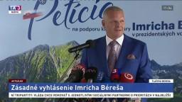 TB I. Béreša v súvislosti s kandidatúrou na post prezidenta SR