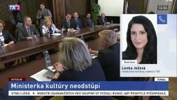 L. Ježová o rokovaniach ministerky kultúry Laššákovej