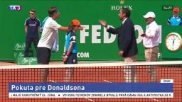 Donaldson nakričal na rozhodcu, vedenie ATP mu udelilo vysokú pokutu