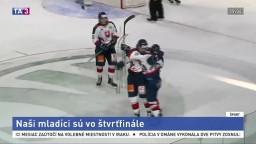 Hokejová osemnástka postúpila do štvrťfinále, zakopla len raz