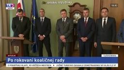 TB lídrov koaličných strán po spoločnom rokovaní