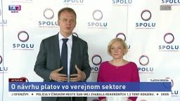 TB strany SPOLU o návrhu platov vo verejnom sektore