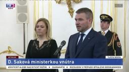 Brífing P. Pellegriniho a D. Sakovej po jej vymenovaní do funkcie