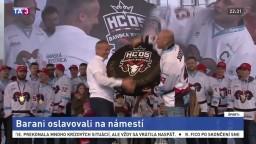 Banskobystrickí hokejisti oslavovali úspešnú obhajobu majstrovského titulu