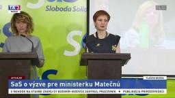 TB strany SaS o výzve pre ministerku Matečnú