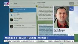 M. Dorazín o zablokovaných internetových stránkach v Rusku