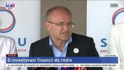 TB strany SPOLU o návrhu investovania financií do rodín