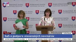 TB strany SaS o podpore slovenských novinárov