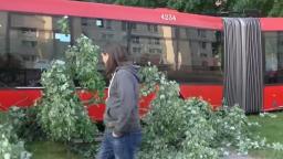Autobus MHD sa sám rozbehol, narazil do áut, stromov i lavičiek