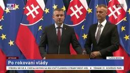 TB P. Pellegriniho a R. Rašiho po rokovaní vlády