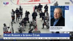 J. Novotný o blížiacom sa zápase slovenských hokejistov s Ruskom na MS