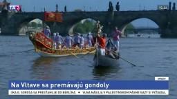 Praha sa zmenila na Benátky, na Vltave sa premávajú gondoly