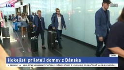 Slovenskí hokejisti prileteli domov, v skupine vidia progres