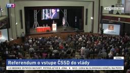 Straníci ČSSD môžu v referende hlasovať o ich vstupe do vlády