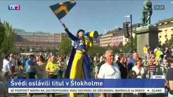 Švédski reprezentanti oslavovali titul, čakali ich tisícky fanúšikov