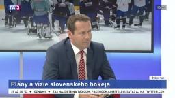 ŠTÚDIO TA3: Prezident SZĽH M. Kohút o budúcoročných MS a budúcnosti hokeja