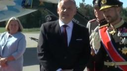 Prezident Kiska pricestoval do Nórska, po príchode ho privítal kráľ