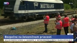 Simulované nehody majú prispieť k bezpečnosti na železničných priecestiach