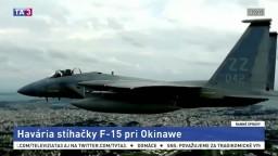 Pri japonskom ostrove sa zrútila stíhačka, pilot sa stihol katapultovať