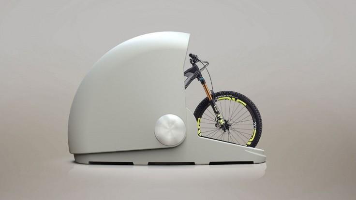 Šikovné garážovanie bicykla v kapsule odolnej voči vode