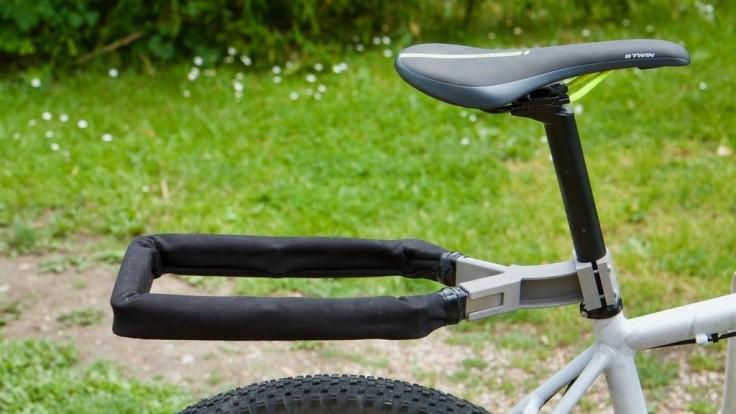 Nexibi: Praktická kombinácia zámku a zadného nosiča pre bicykle