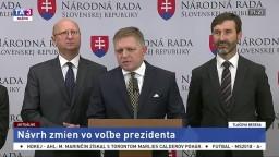 TB R. Fica o návrhu zmien v zákone o voľbe prezidenta