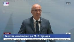 Vyhlásenie J. Hoľka k trestnému oznámeniu na poslanca M. Krajniaka