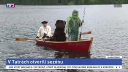 Otvorili letnú sezónu v Tatrách, hladinu odomkol Poseidón