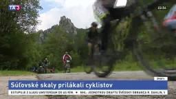 Súľovské skaly prilákali cyklistov, tretiu etapu vyhral Hartl